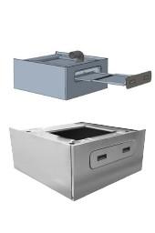 Integrierter Flusenkasten (Sockel und Flusenkasten) für FX240, 323 mm
