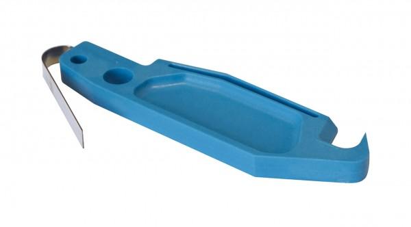 Mitnehmer Blau mit Federelement 0,4mm Metricon