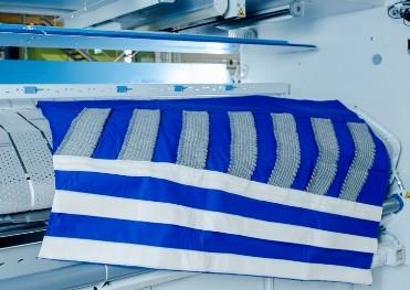 Muldenreinigungstuch Blau MRT-ST Stahlwolle-Streifen
